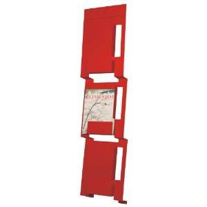 2D3D Wall Magazine Rack in Fire Engine Red by Blu Dot
