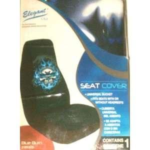 Elegant Blue Burn Universal Car Bucket Seat Cover