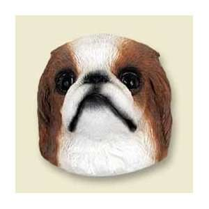 Japanese Chin Dog Magnet   Red & White