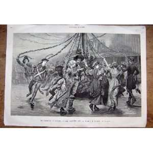 Carnival Canada Ice Costume Ball Ottawa Print 1929 Home