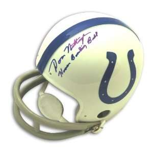 Don Nottingham Baltimore Colts Mini Helmet inscribed Human