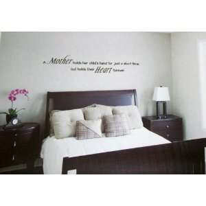 MOTHER HOLDS HER CHILDS HAND (Phrase) WALL DECALS