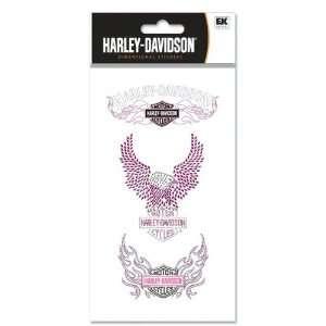 Harley Davidson Motorcycle Pink Gemstone Dimensional
