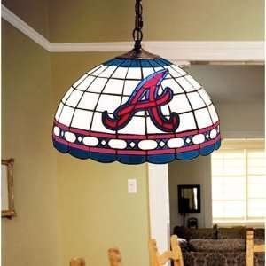 Atlanta Braves MLB Stained Glass Hanging Ceiling Lamp