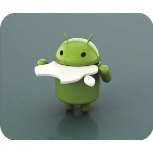 Android Eats Apple Mouse Pad