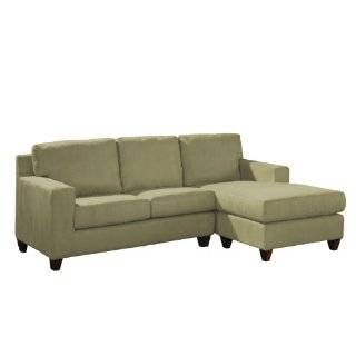 Upholstered Sectional RAF Chaise LAF Loveseat new age eco style linen