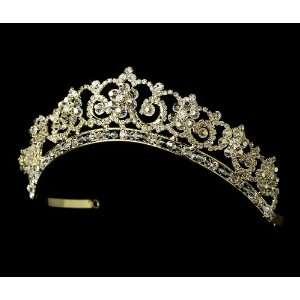 Gold Clear Crystal & Rhinestone Bridal Tiara HP 434 Beauty