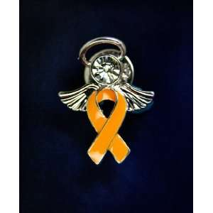 Orange Ribbon Pin   Angel Tac (Retail): Everything Else