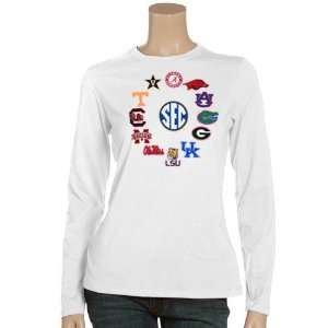 NCAA SEC Ladies White Conference Long Sleeve T shirt