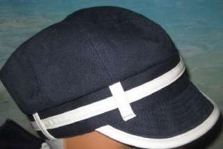 NWT Womens Girls Navy Blue Beret Newsboy Hat Cap S 6
