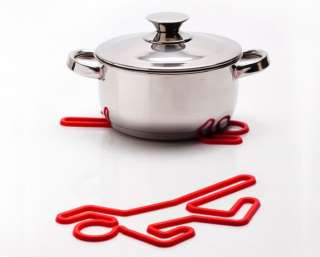 New Crime Scene Silicone Trivet Hot Pot Pan Holder Kitchen Gadget