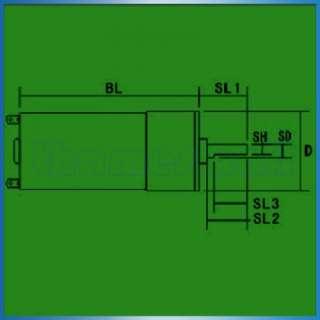 300 RPM High Torque Gear Box Electric Car Motor 12V 5W