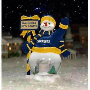 San Diego Chargers Team City Limits Snowman NFL Football
