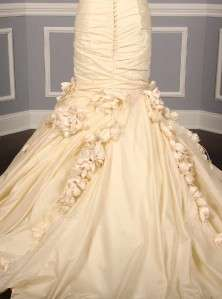 AUTHENTIC Ines Di Santo Flora Ivory Silk Taffeta Strapless Bridal Gown