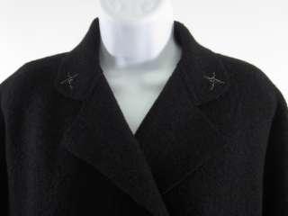 INDIES Black Wool Star Moon Button Coat Jacket Sz 3