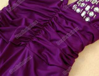 neck Strappy Backless Jewel Full length Evening Gown Dress Hot