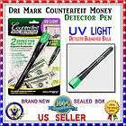 Dri mark Smart Money Counterfeit Detector Pen with UV Led Light NEW