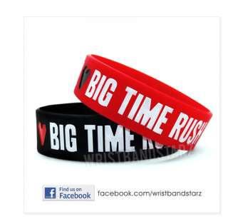 LOVE BIG TIME RUSH BRACELET WRISTBAND BTR Kendall Logan Carlos James