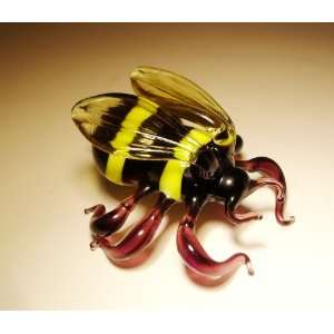 Blown Glass Art Animal Insect Figurine BUMBLE BEE