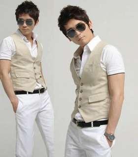Mens Premium Slim Vest Waist Coat 2 color 3 size
