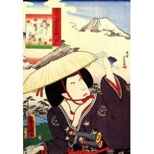 Acrylic Fridge Magnet Japanese Art Utagawa Kunisada A popular