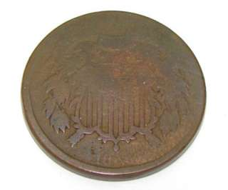 have for sale a 1866 US 2 Cent Copper Coin which has been in