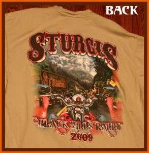 Sturgis 2009 Biker Rally Motorcycle T Shirt L