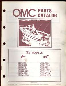 1983 JOHNSON EVINRUDE 35 OUTBOARD PART MANUAL