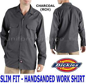 Dickies shirts LONG SLEEVE Work Shirt HANDSANDED WL475 M L XL 2XL