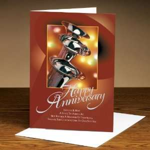 Successories Happy Anniversary Trumpets 25 Pack Greeting