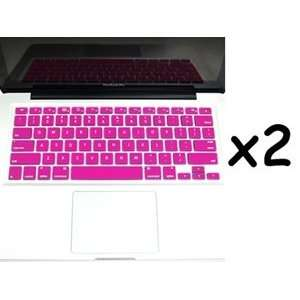 com Bluecell 2 Pcs Hot Pink Keyboard Cover for Apple Macbook/Macbook