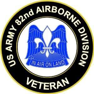 US Army Veteran 82nd Airborne Unit Crest Sticker Decal 5.5