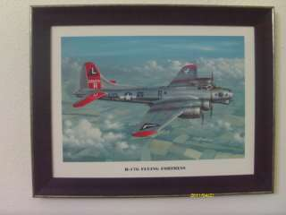 NEW B 17 WWII MILITARY BOMBER AIRCRAFT FRAMED PRINT