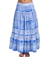 Jones New York Sport   Printed Border Cotton Lawn Maxi Skirt