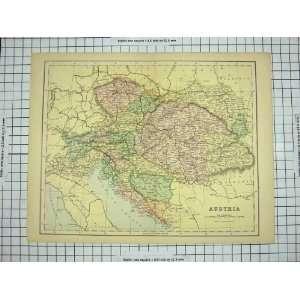 ANTIQUE MAP AUSTRIA BOHEMIA BOSNIA GULF VENICE COLOUR