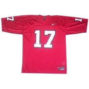 Nike North Carolina State Wolfpack #17 Red Replica Football Jersey