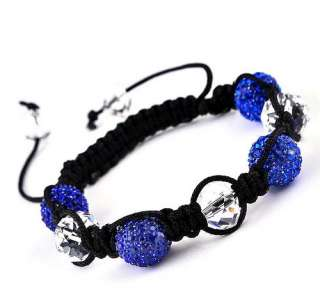 DIY Charms Bangle 13pcs Disco Crystal Ball Beads bracelet Xmas 12mm