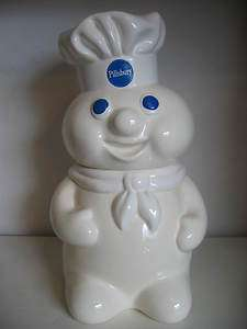 THE PILLSBURY DOUGH BOY Vintage Ceramic Cookie Jar Pottery 1988 GREAT