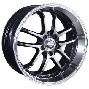 PIAA Style D Hyper Black Finish   18 x 9 Inch Wheel