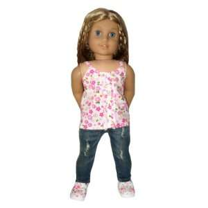 Distressed Jeans. Doll Clothes Fit American Girl Doll. Toys & Games