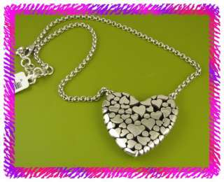 BRIGHTON Silver LA BEAU HEART Necklace NWtag |