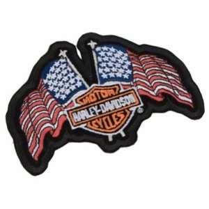 USA Flags Patch   Harley Davidson Automotive