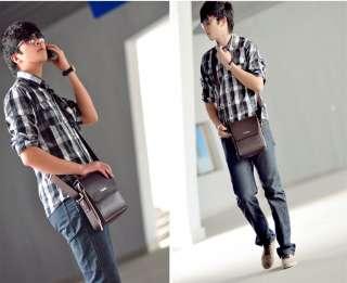 NEW Videng Polo classical brown mens leather Shoulder Bag messenger