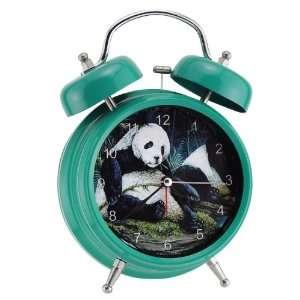 Green Wildlife Panda Double Bell Alarm Clock Home