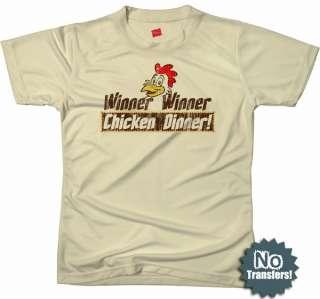 Winner Chicken Dinner black jack 21 las vegas t shirt