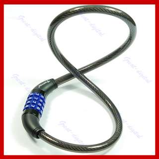 Digital Bike Bicycle Code Combination Lock Cable TY42