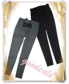 Skinny Sweat Pants Women Elastic High Waisted Pants Trousers #007