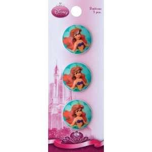Disney 1 Buttons Ariel