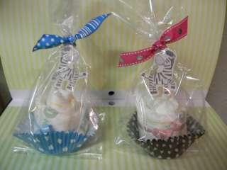 ZEBRA diaper cupcakes boy/girl baby shower favor or decoration