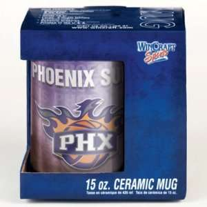 PHOENIX SUNS 15OZ CERAMIC COFFEE MUG Sports & Outdoors